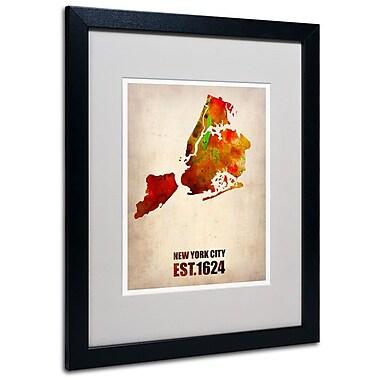 Trademark Fine Art 'New York City Watercolor Map 2' 16