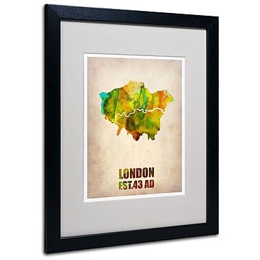 Trademark Fine Art 'London Watercolor Map' 16