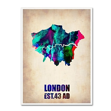 Trademark Fine Art 'London Watercolor Map 2' 14