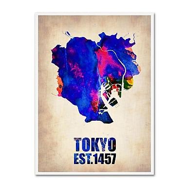 Trademark Fine Art 'Tokyo Watercolor Map' 14