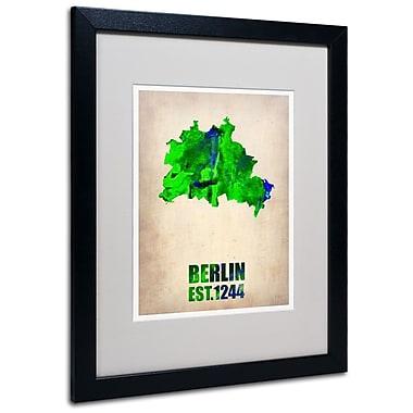 Trademark Fine Art 'Berlin Watercolor Map' 16