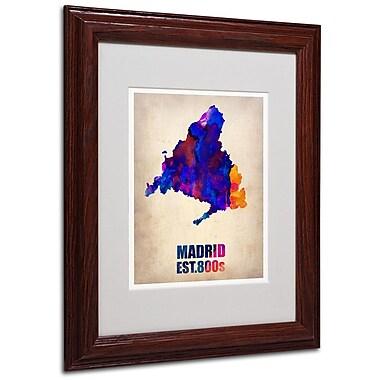 Trademark Fine Art 'Madrid Watercolor Map' 11