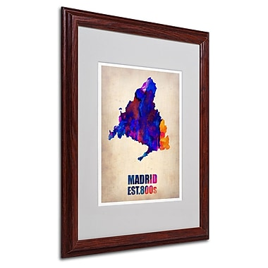 Trademark Fine Art 'Madrid Watercolor Map' 16