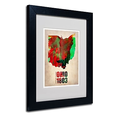 Trademark Fine Art 'Ohio Watercolor Map' 11