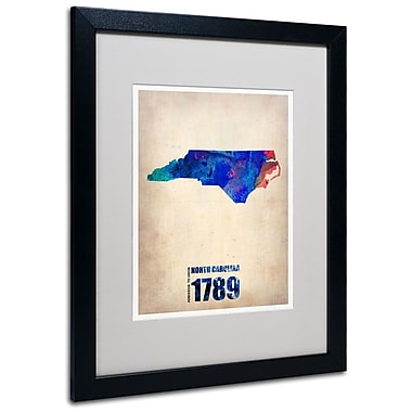 Trademark Fine Art 'North Carolina Watercolor Map' 16