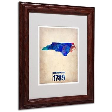 Trademark Fine Art 'North Carolina Watercolor Map' 11