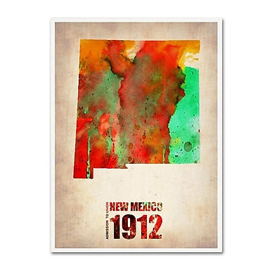Trademark Fine Art 'New Mexico Watercolor Map' 35