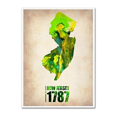 Trademark Fine Art 'New Jersey Watercolor Map' 14