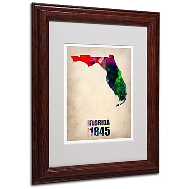 Trademark Fine Art 'Florida Watercolor Map' 11