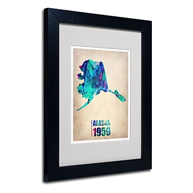 Trademark Fine Art 'Alaska Watercolor Map'