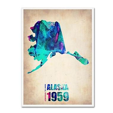 Trademark Fine Art 'Alaska Watercolor Map' 35