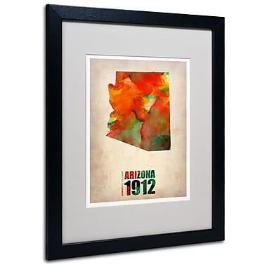Trademark Fine Art 'Arizona Watercolor Map' 16