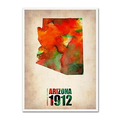 Trademark Fine Art 'Arizona Watercolor Map' 24