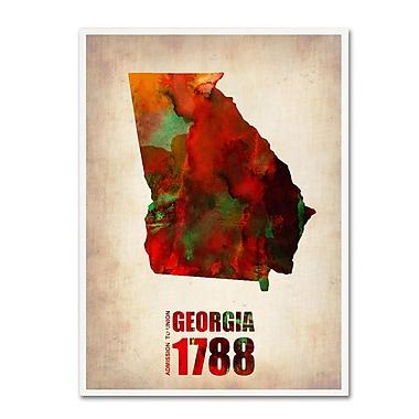 Trademark Fine Art 'Georgia Watercolor Map' 18