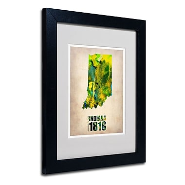 Trademark Fine Art 'Indiana Watercolor Map' 11