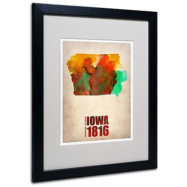 Trademark Fine Art 'Iowa Watercolor Map' 16