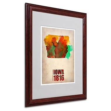 Trademark Fine Art 'Iowa Watercolor Map' 16