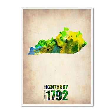 Trademark Fine Art 'Kentucky Watercolor Map' 35