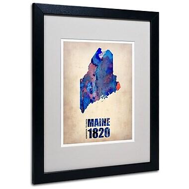 Trademark Fine Art 'Maine Watercolor Map' 16