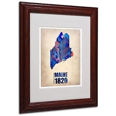 Trademark Fine Art 'Maine Watercolor Map' 11