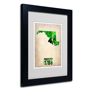 Trademark Fine Art 'Maryland Watercolor Map'