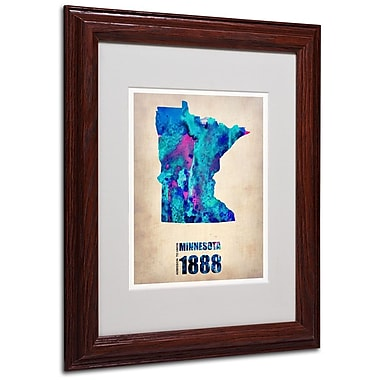 Trademark Fine Art 'Minnesota Watercolor Map' 11