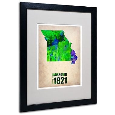 Trademark Fine Art 'Missouri Watercolor Map' 16