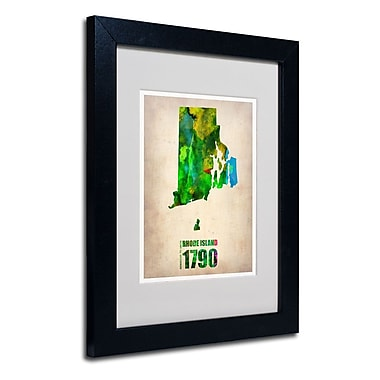 Trademark Fine Art 'Rhode Island Watercolor Map'