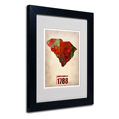 Trademark Fine Art 'South Carolina Watercolor Map'