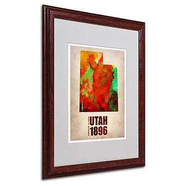 Trademark Fine Art 'Utah Watercolor Map' 16