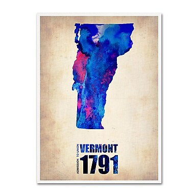 Trademark Fine Art 'Vermont Watercolor Map' 24