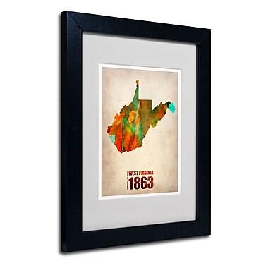 Trademark Fine Art 'West Virginia Watercolor Map' 11