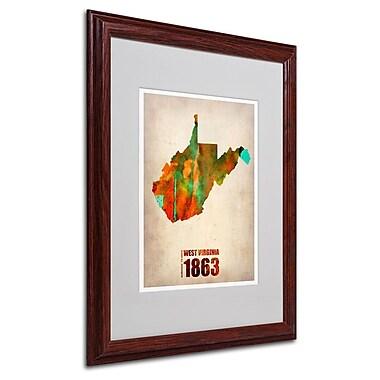 Trademark Fine Art 'West Virginia Watercolor Map' 16