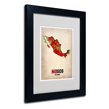Trademark Fine Art 'Mexico Watercolor Map'