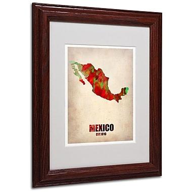 Trademark Fine Art 'Mexico Watercolor Map' 11
