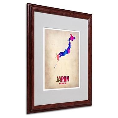 Trademark Fine Art 'Japan Watercolor Map' 16