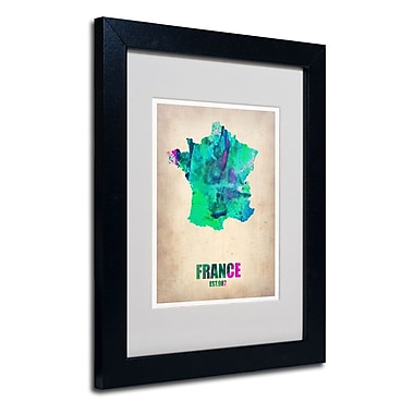 Trademark Fine Art 'France Watercolor Map'