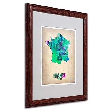 Trademark Fine Art 'France Watercolor Map' 16