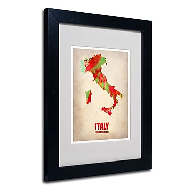 Trademark Fine Art 'Italy Watercolor Map'