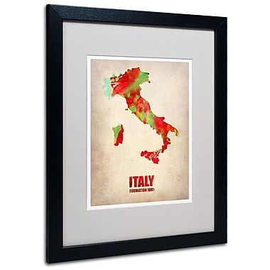 Trademark Fine Art 'Italy Watercolor Map' 16