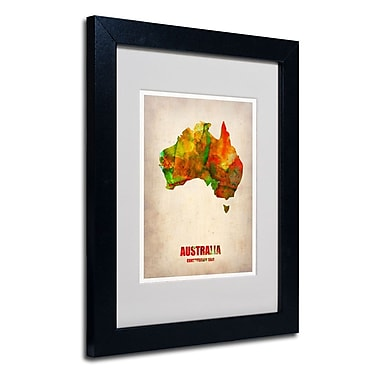 Trademark Fine Art 'Australia Watercolor Map'