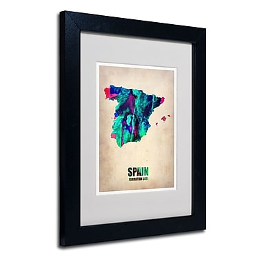 Trademark Fine Art 'Spain Watercolor Map'