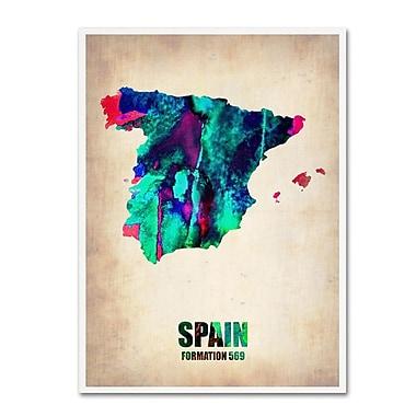 Trademark Fine Art 'Spain Watercolor Map' 18