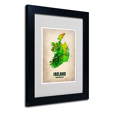 Trademark Fine Art 'Ireland Watercolor Map'