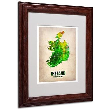 Trademark Fine Art 'Ireland Watercolor Map' 11