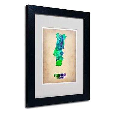Trademark Fine Art 'Portugal Watercolor Map'
