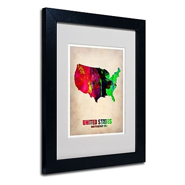 Trademark Fine Art 'United States Watercolor Map' 11