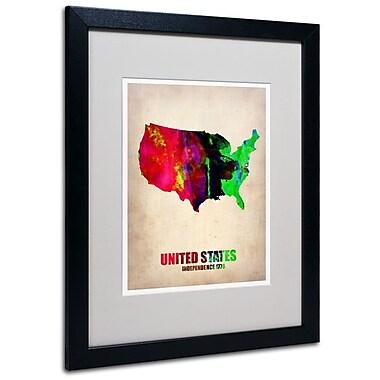 Trademark Fine Art 'United States Watercolor Map' 16
