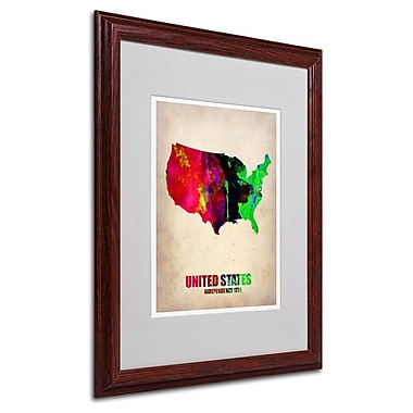 Trademark Fine Art 'United States Watercolor Map' 16