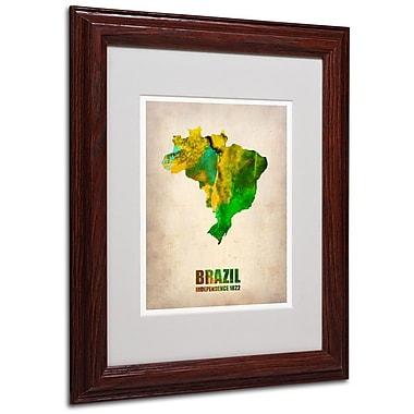 Trademark Fine Art 'Brazil Watercolor Map' 11